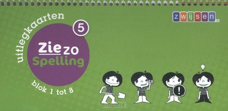 5 blok 1 tot 8 / Ziezo spelling / uitlegkaarten