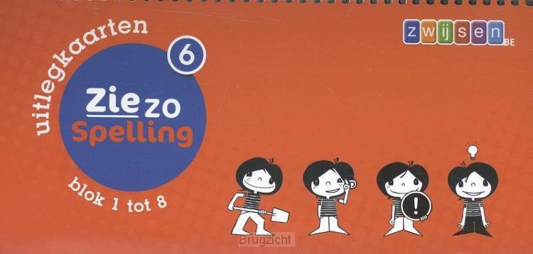 6 blok 1 tot 8 / Ziezo spelling / Uitlegkaarten