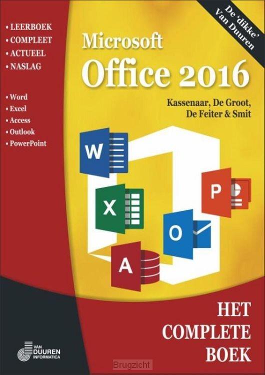 Het Complete Boek Office 2016