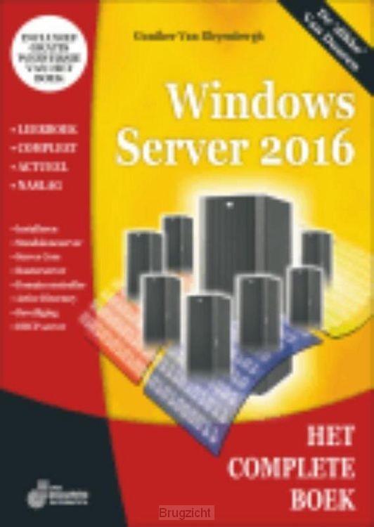 Het complete boek windows server / 2016