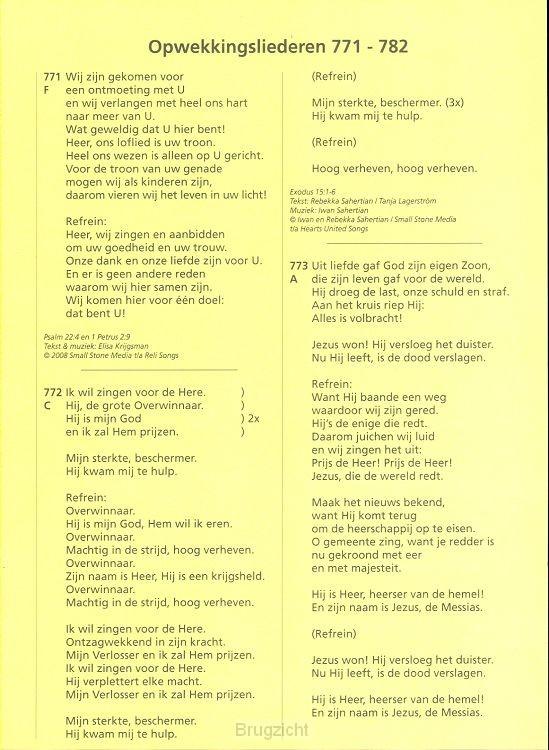 Tekstboekje aanvulling 39 nrs.771-782