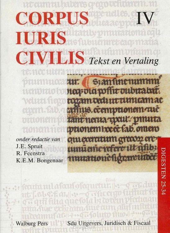 Corpus Iuris Civilis / IV Digesten 25-34