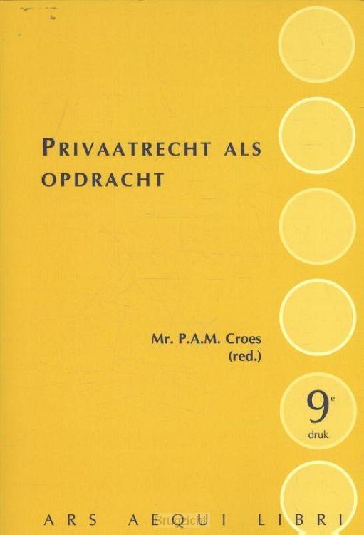 Privaatrecht als opdracht