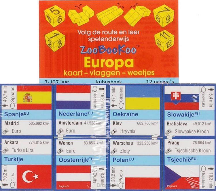 Europa / Kaart,Vlaggen, Weetjes