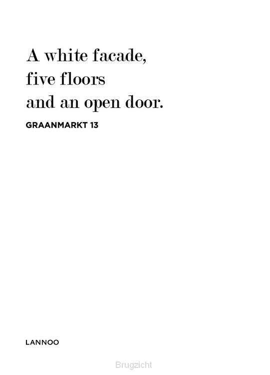 A white facade, five floors and an open door