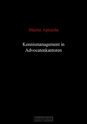 Kennismanagement in advocatenkantoren