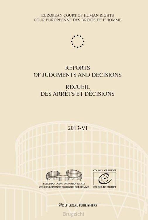 Reports of judgments and decisions/recueil des arrêts et décisions / 2013-III