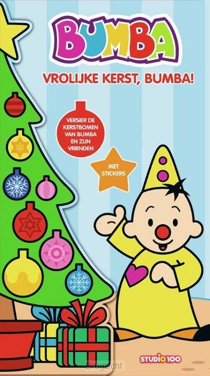 Kerstboomboek met stickers - Vrolijke Kerst, Bumba