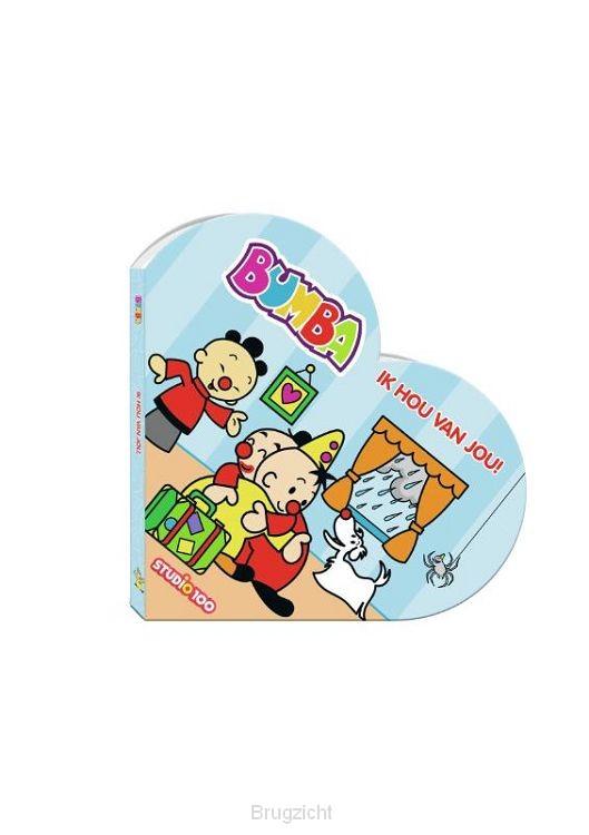 Bumba : kartonboek in hartvorm - ik hou van je !