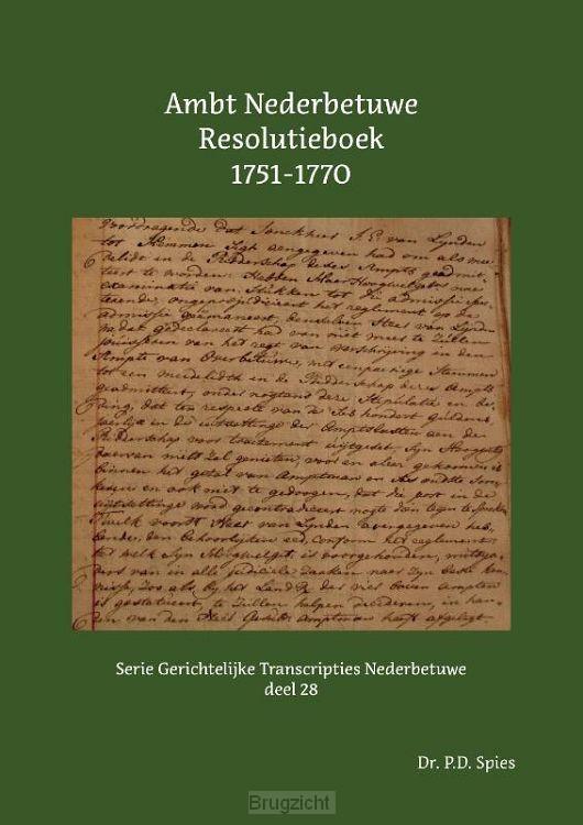 Ambt Nederbetuwe Resolutieboek 1751-1770