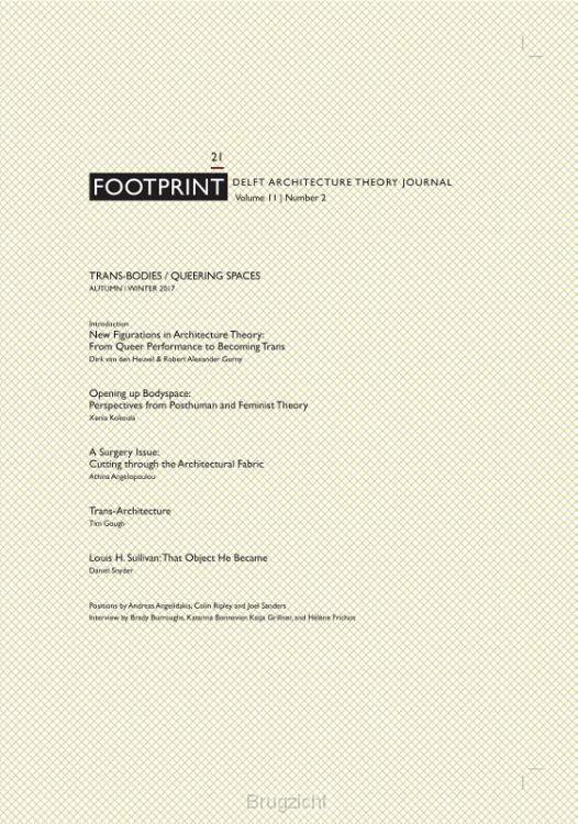 Footprint 21 Trans-Bodies / Queering Spaces