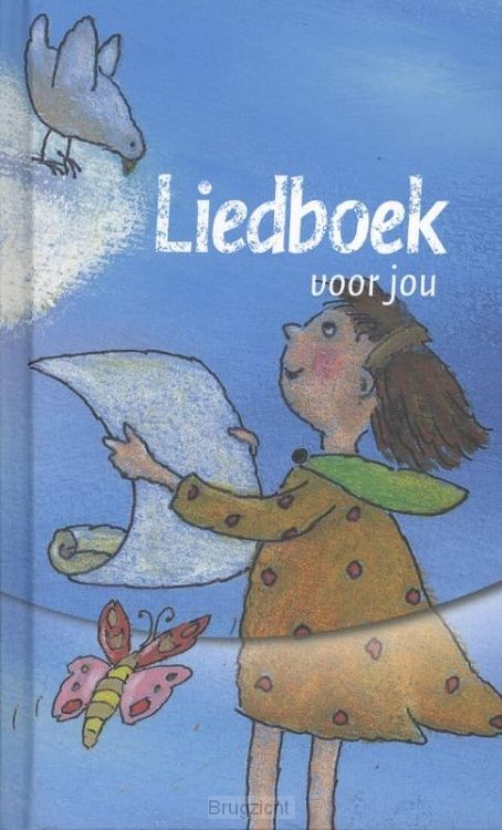 Nieuw Liedboek Kind blauw met tekening