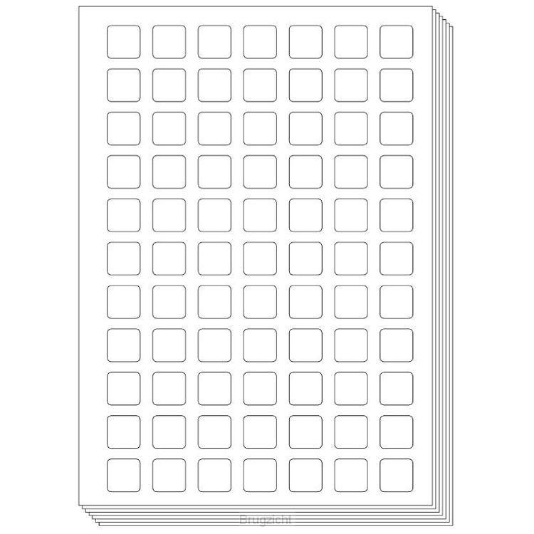 Pictogenda blanco stickervellen (10 stuks)