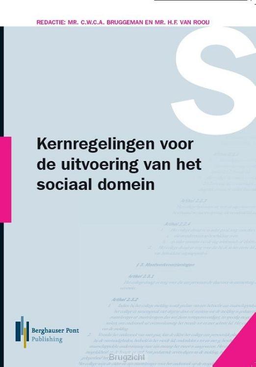 Kernregelingen voor de uitvoering van het sociaal domein 2019