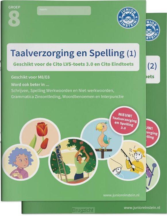 Taalverzorging en Spelling Cito Oefenboeken Set Deel 1 en 2
