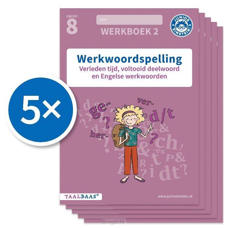 Werkwoordspelling werkboek 2 groep 8 (Set van 5)