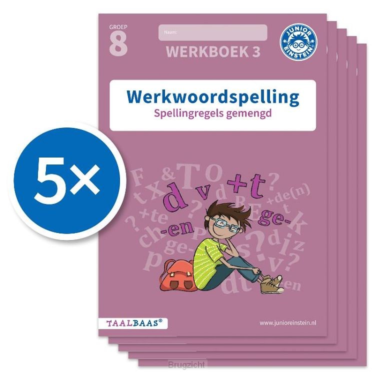 Werkwoordspelling werkboek 3 groep 8 (Set van 5)