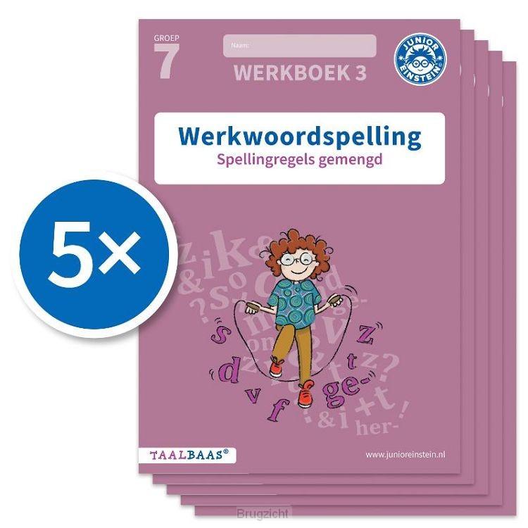 Werkwoordspelling werkboek 3 groep 7 (Set van 5)