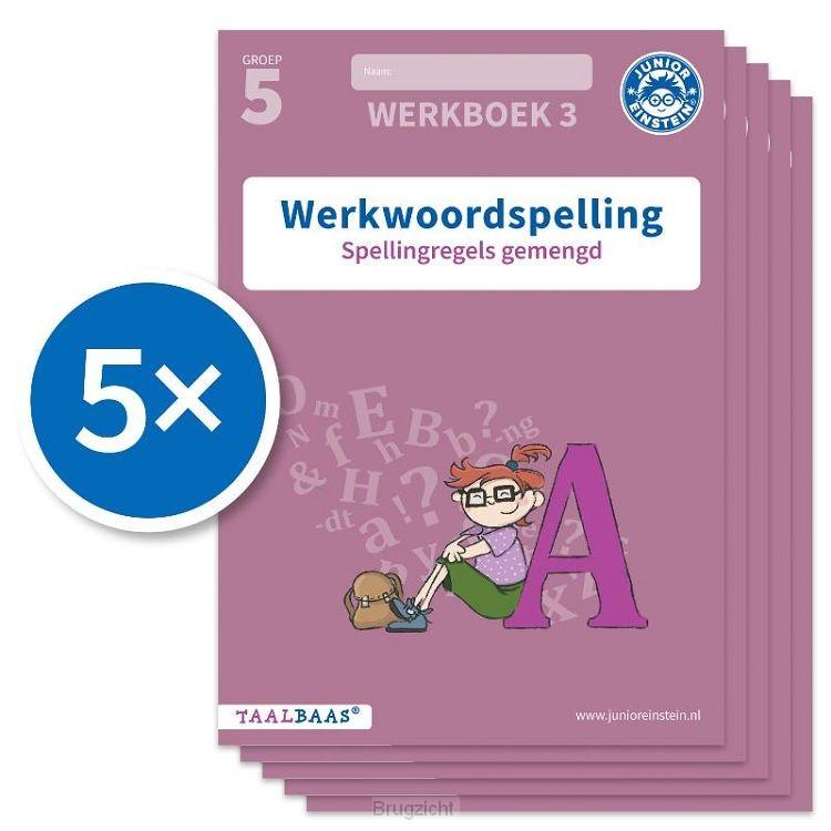 Werkwoordspelling werkboek 3 groep 5 (Set van 5)