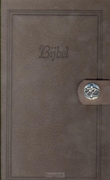 Bijbel HSV nubuck blauw  GHL
