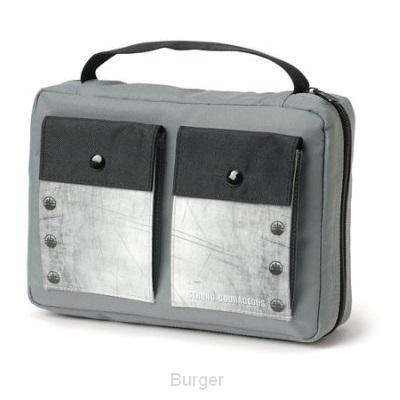 Biblecover grey canvas medium