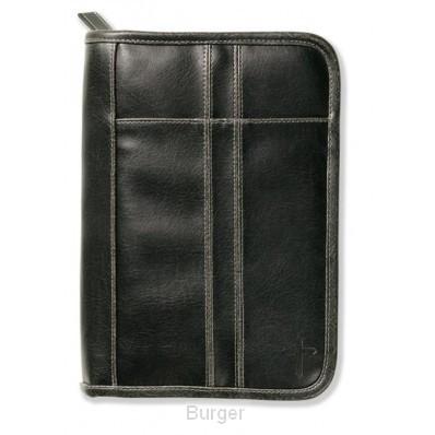 Biblecover distressed black xl