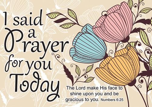 Postcard I said a prayer set6