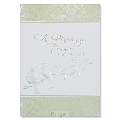 Wedding cards marriage prayer emb set3