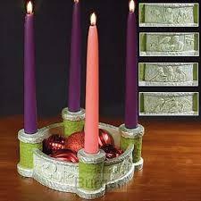 Candle advent holder bethlehem scenes