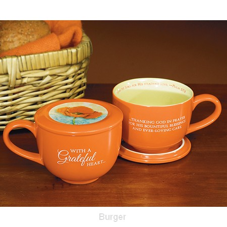 Soup mug grateful heart