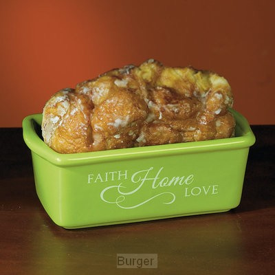 Mini loaf pan faith home love
