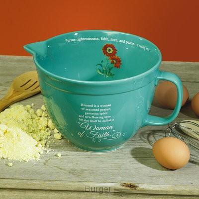 Mixing bowl woman of faith