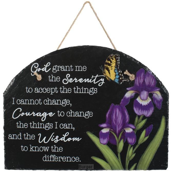 Slate Garden plaque serenity prayer