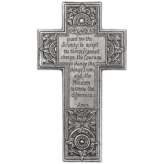 Metal cross serenity Prayer