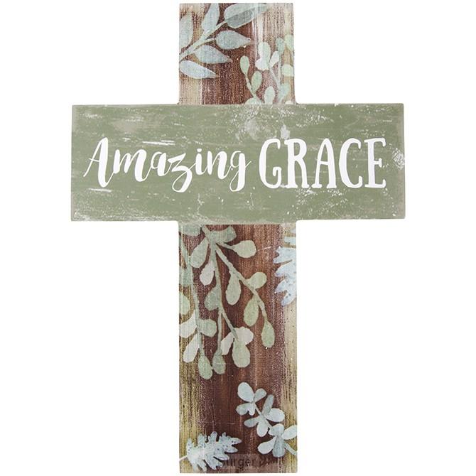 Wall cross amazing grace