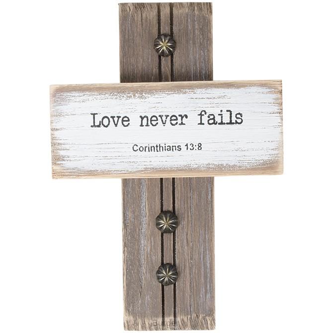 Wall cross love never fails