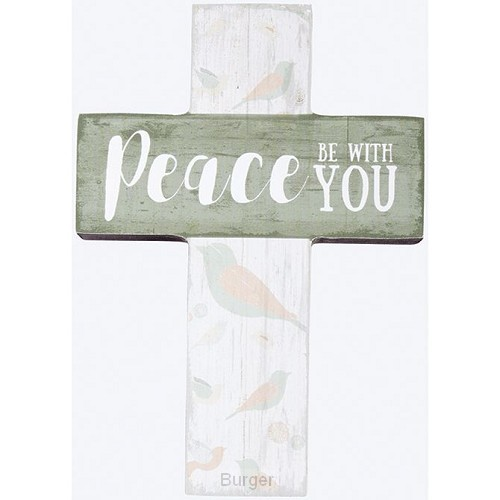 Mini wall cross peace be with you