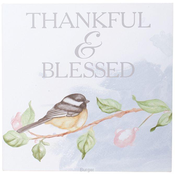 Table/wall block thankful