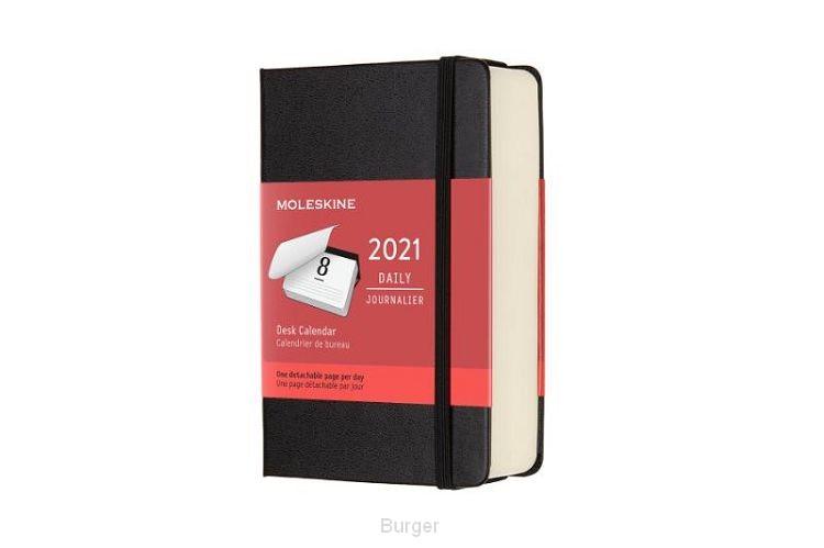 Moleskine 12 MND Agenda - 2021 - Dagelijks - Pocket (9x14 cm) - Desk Calendar - Harde Kaft