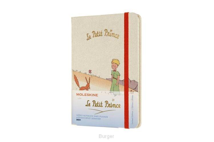 Moleskine 12 MND Agenda - 2021 - LE Planner -  Petit Prince - Wekelijks - Pocket (9x14 cm) - Fox