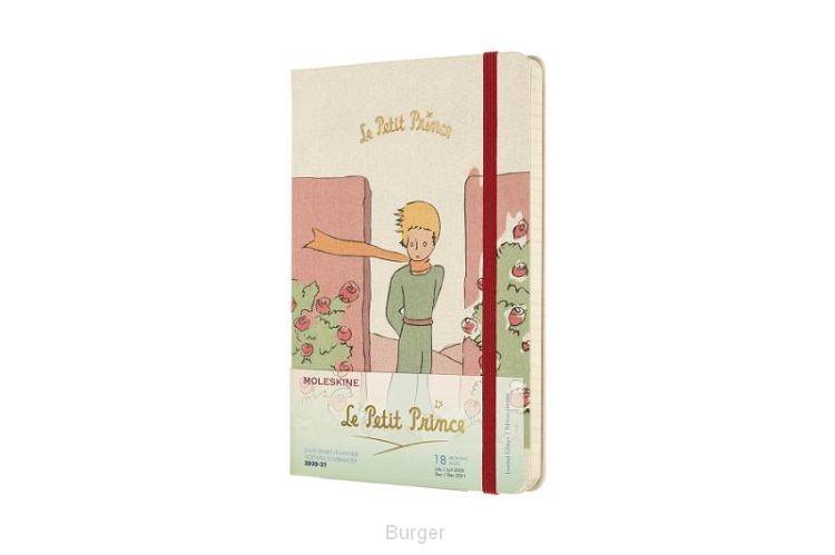 Moleskine 18 MND Agenda - 2020/21 - LE Planner - Petit Prince - Dagelijks - Large (14x21 cm) - Roses - Harde Kaft