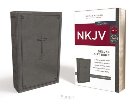 NKJV deluxe gift bible grey