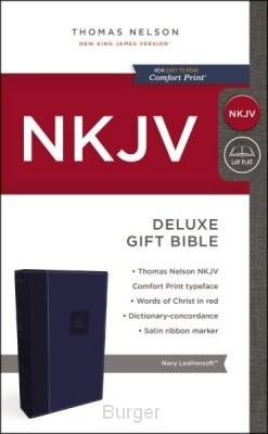 NKJV deluxe gift bible blue
