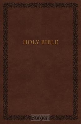 KJV soft touche bible brown imitation le