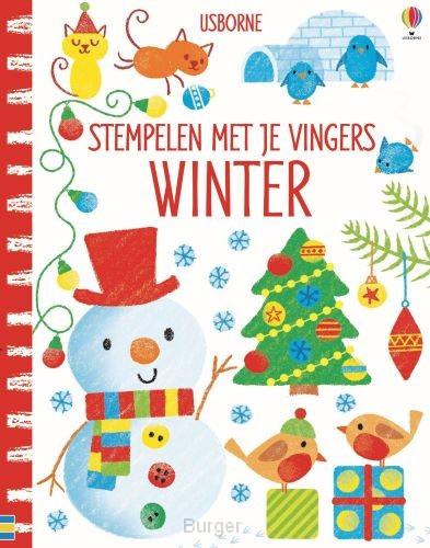 Stempelen met je vingers Winter