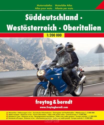Zuid-Duitsland, West-Oostenrijk, Noord-Italië Motoratlas F&B