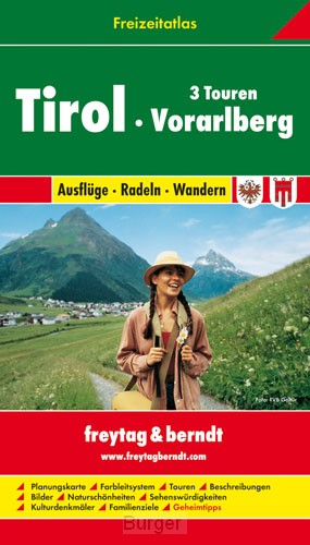 Tirol-Vorarlberg Freizeitatlas F&B 1:50 000 - 1:200 000
