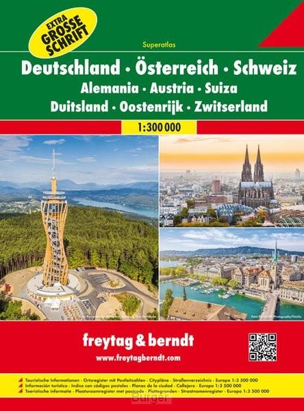 Duitsland, Oostenrijk, Zwitserland Superatlas F&B