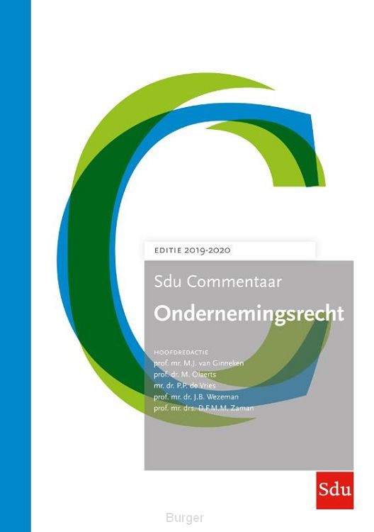Sdu Commentaar Ondernemingsrecht / Editie 2019-2020