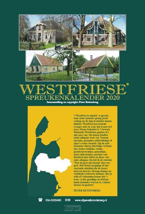 Westfriese spreukenkalender 2020